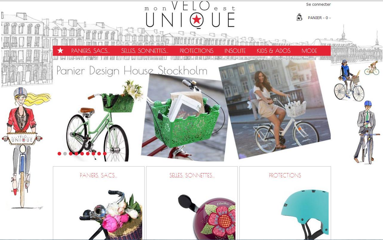Site web vélo unique